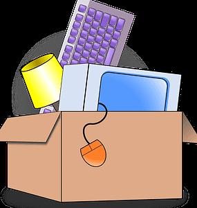 stuffs in box